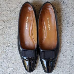 Vintage Ralph Lauren Patent Leather Bow Flats